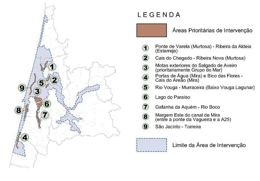 Polis Litoral Ria Aveiro-AreasPrioritarias_Texto-LEG